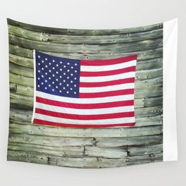 Upstate American Flag Wall Tapestry