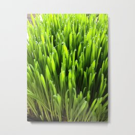 Glowing Green Metal Print