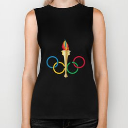Olympic Rings Biker Tank