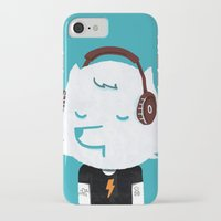 acdc iPhone & iPod Cases featuring Metal Rock Dog by Picomodi