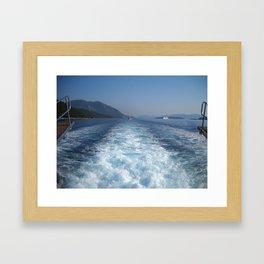 Rest on The Ionian Sea. Greek Islands. Framed Art Print