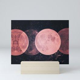 Pink Moon Phases Mini Art Print