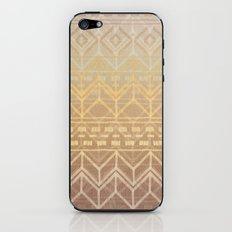 Neutral Tan & Gold Tribal Ikat Pattern iPhone & iPod Skin