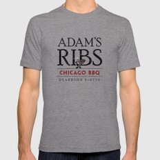 Adam's Ribs Mens Fitted Tee Tri-Grey 2X-LARGE