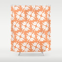 Orange Shaka Shower Curtain