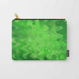 Wave pattern green Carry-All Pouch