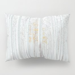 White tree forest Pillow Sham