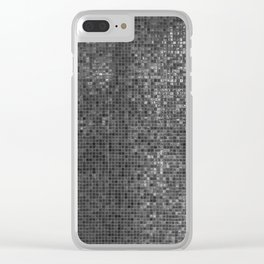 grey shower Clear iPhone Case