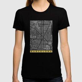 Barcelona map T-shirt