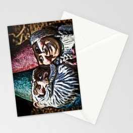 Garden Gnome Couple Stationery Cards