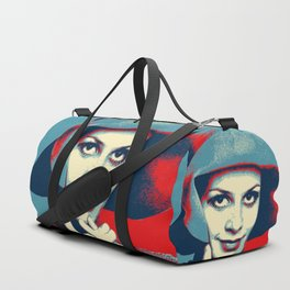 """Twiggy Pop Stencil Portrait"" Duffle Bag"