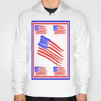 american flag Hoodies featuring American Flag by Art by Samantha Perez