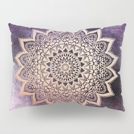 GOLD NIGHTS MANDALA IN PURPLE Pillow Sham