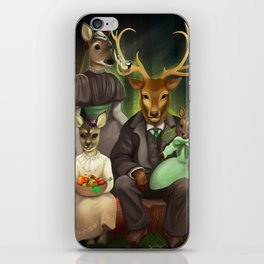 Family portrait iPhone Skin