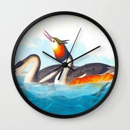 Great Crested Grebe Bird Wall Clock
