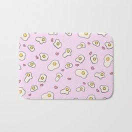 i love eggs Bath Mat