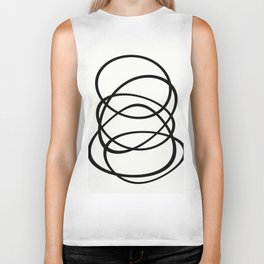 Come Together - Black and white, minimalistic, abstract, art print Biker Tank