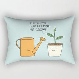 Thank you for helping me grow! Rectangular Pillow
