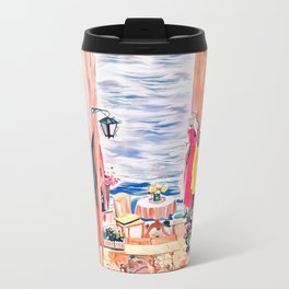 Stairs to the sea Metal Travel Mug
