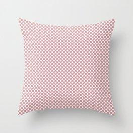 Bridal Rose and White Polka Dots Throw Pillow