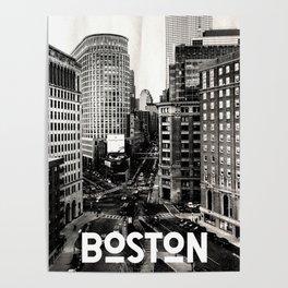 Boston, Massachusetts City Skyline Poster
