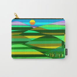 Mountain and Lake Quilted Carry-All Pouch