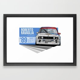 Roberto Ravaglia - 1989 Zolder Framed Art Print