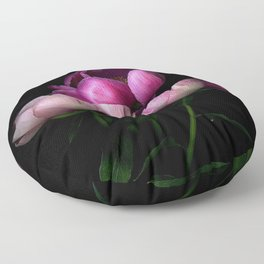 Dark Peonies Floor Pillow