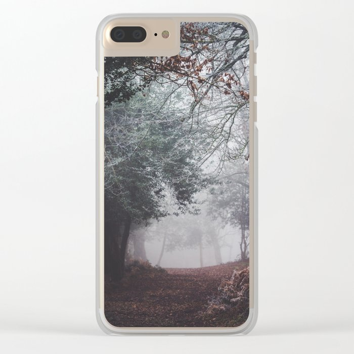 Frosty path Clear iPhone Case