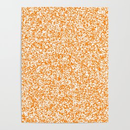 Tiny Spots - White and Orange Poster