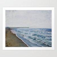 Foggy Seas Art Print