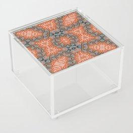 Energy Light | Orange & Teal geometry Acrylic Box