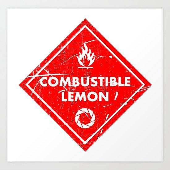 Combustible Lemon Art Print