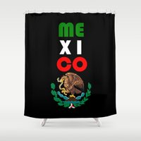 mexico Shower Curtains featuring Mexico  by RDsix3