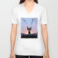 punisher V-neck T-shirts featuring Punisher Kid by Andy Fairhurst Art