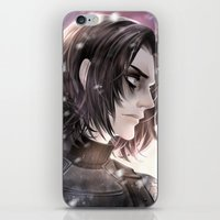 winter soldier iPhone & iPod Skins featuring Winter Soldier by Lüleiya