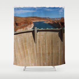 Glen Canyon Dam and Lake Powell Shower Curtain