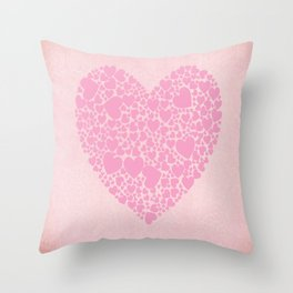 Rose Hearts Throw Pillow