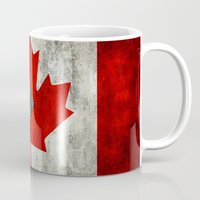 canada Mugs featuring Flags - Canada by Ale Ibanez