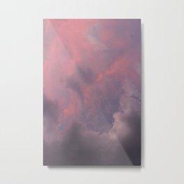 nubes moradas Metal Print