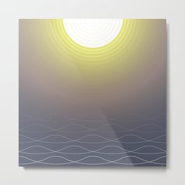 Shining Waves Metal Print