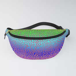 Wild Thing Rainbow Leopard Print Fanny Pack
