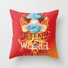 Defend the world Throw Pillow