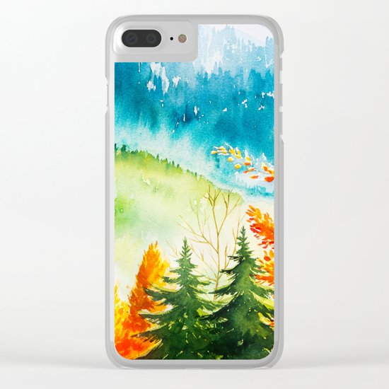 Autumn scenery #6 Clear iPhone Case