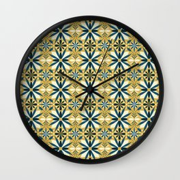 Geometrical flowers Wall Clock