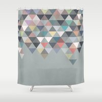 nordic Shower Curtains featuring Nordic Combination 20 by Mareike Böhmer