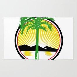 Royal Palm Beach Sea Mountain Retro Rug