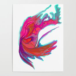 Bright abstract butterfly Poster