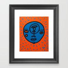 orange et bleu Framed Art Print