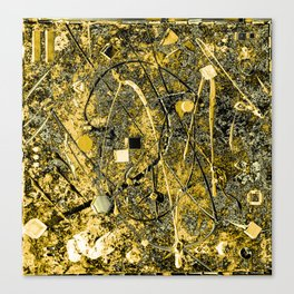Power of Gold Canvas Print